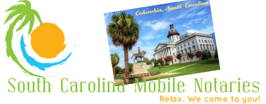 Columbia South Carolna Mobile Notaries; Columbia mobile notary service; traveling notary public Columbia; Columbia wedding officiants; signing agents Columbia, SC